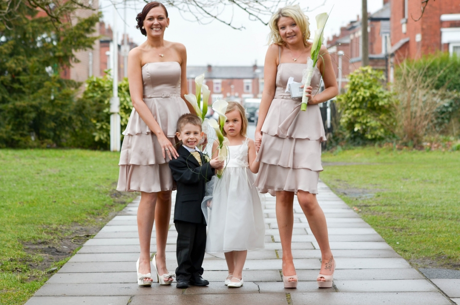 bridesmaids at st matthews church