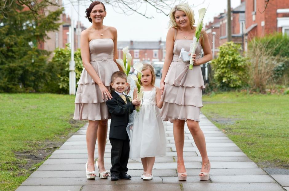 bridesmaids at st matthews church