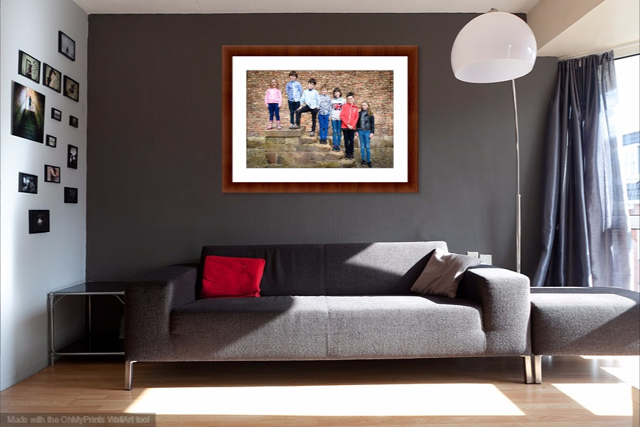frame in living room