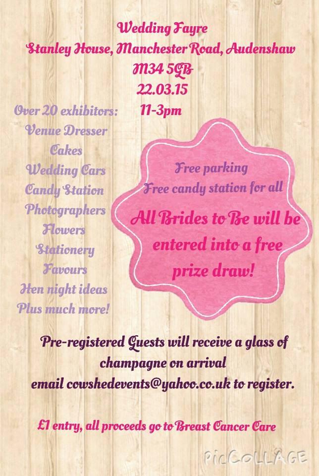 wedding fair leaflet