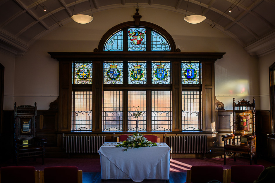 Altrincham Town Hall Wedding Photography - interior