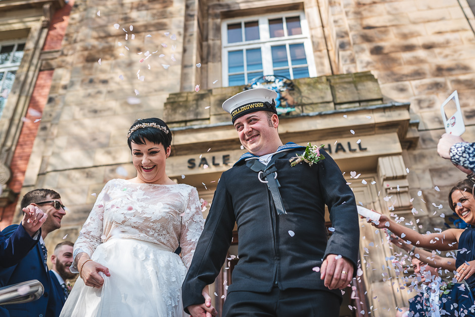 Sale Town Hall wedding photographer