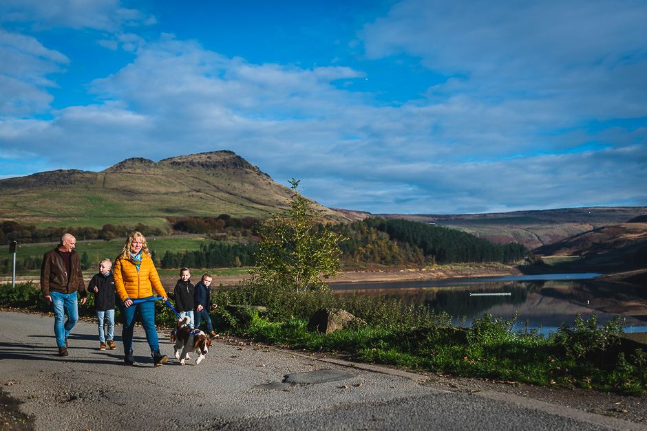 Oldham Family Lifestyle Photography at Dovestone Reservoir