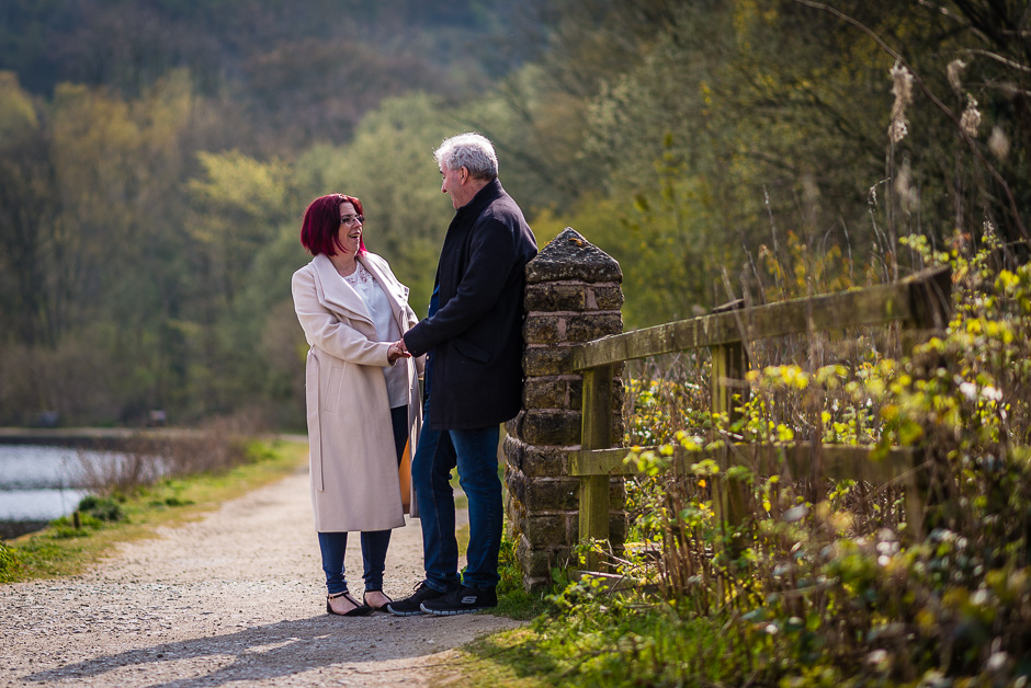 Engagement photography Etherow Country Park