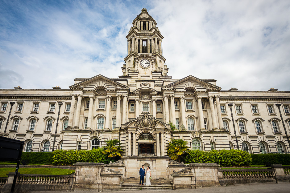 Stockport Town Hall Wedding Photographer - Marble Staircase